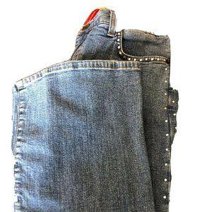 NYDJ Tummy Tuck Bootcut Jeans Size 8 Studded  EUC